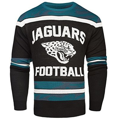 NFL Jacksonville Jaguars GLOW IN THE DARK Ugly Sweater, Small
