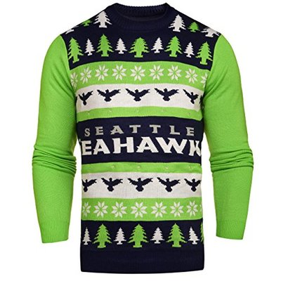 NFL Seattle Seahawks Light Up Ugly Sweater, Medium