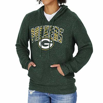 Zubaz NFL Green Bay Packers Women's Soft Hoodie with Vertical Graphic, Green, X-Large