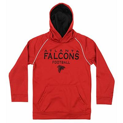 Outerstuff NFL Big Boys (4-18) Performance Team Color Textured Hoodie, Atlanta Falcons Large (12-14)