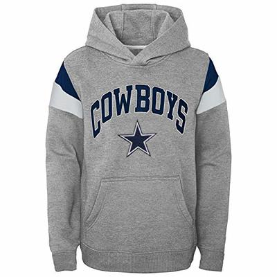 Dallas Cowboys NFL Throwback Youth Color Blocked Hoodie, Heather Gray/Navy, L