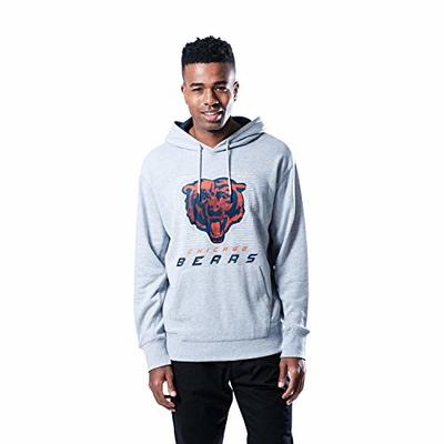 Ultra Game NFL Chicago Bears Mens French Terry Hoodie Jacket, Heather Gray, Large