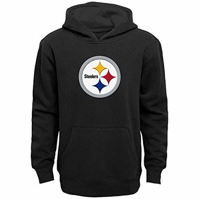 NFL Boys Youth 8-20 Team Color Primary Logo Prime Pullover Fleece Hoodie (Pittsburgh Steelers, Youth Medium 10-12)