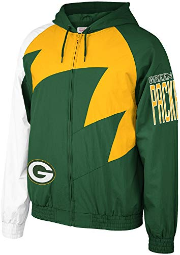 Mitchell & Ness NFL Shark Tooth Jacket_Green Bay Packers (2XL)