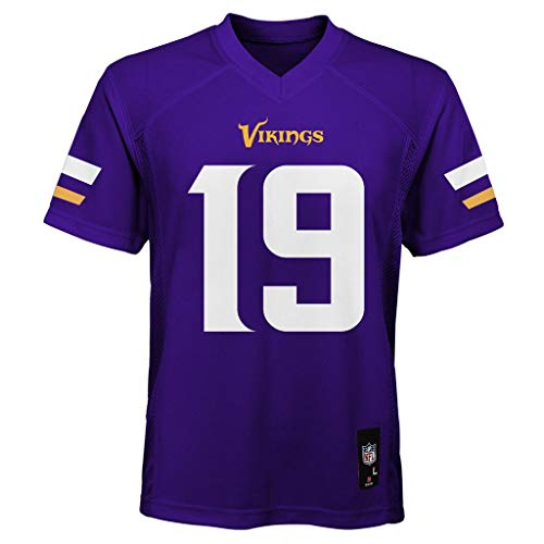 OuterStuff Adam Thielen Minnesota Vikings NFL Youth 8-20 Purple Home Mid-Tier Jersey (Youth X-Large 18-20)