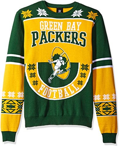 NFL Green Bay Packers RETRO Ugly Sweater, Large