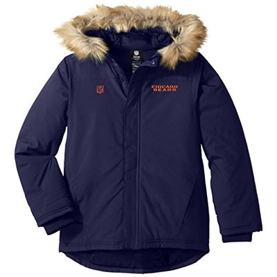 "NFL Youth Boys ""Recon"" Heavyweight Parka Jacket-Dark Navy-M(10-12), Denver Broncos"