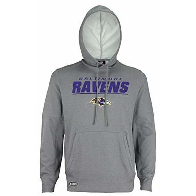 NFL Football Men's Stated Pullover Performance Hoodie, Baltimore Ravens, X-Large