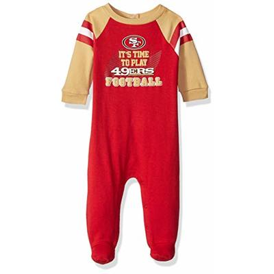NFL San Francisco 49ers Team Sleep And Play Footies, burgundy/gold San Francisco 49ers, 0-3 Months