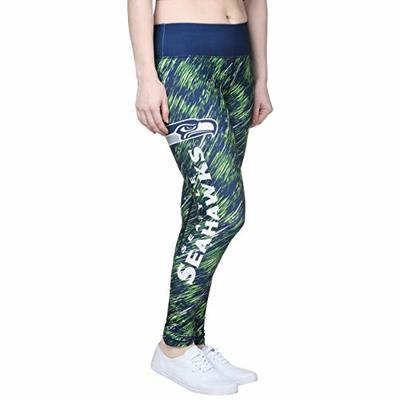 FOCO NFL Seattle Seahawks Womens Static Rain Leggingsstatic Rain Leggings, Team Color, Small