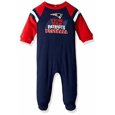 NFL New England Patriots Team Sleep and Play Footies, red/Blue/White New England Patriots, 6-9 Months (138731160PTS09M-417)