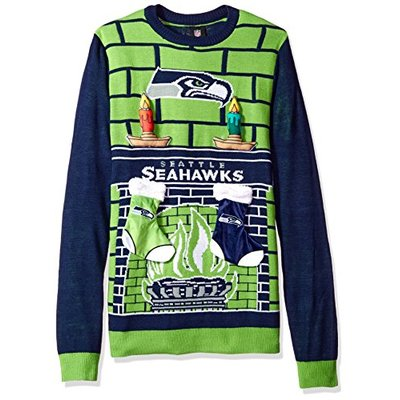 NFL Seattle Seahawks 3D Ugly Sweater, Large