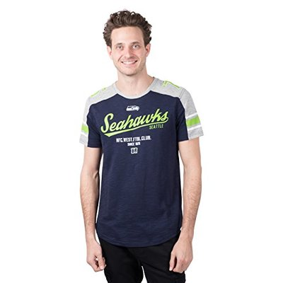 Ultra Game NFL Seattle Seahawks Mens Active Crew Neck Jersey Tee Shirt, Team Color, X-Large
