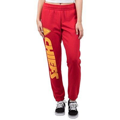 Ultra Game NFL Kansas City Chiefs Womens Relaxed Fit Jogger, Team Color, Small