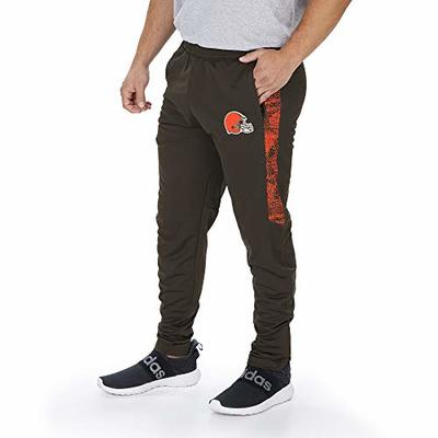 Zubaz Officially Licensed NFL Men's Track Pant with Static Half Panels