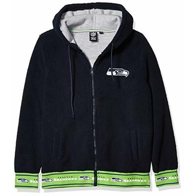 Ultra Game NFL Seattle Seahawks Womenss Full Zip Sherpa Jersey Hoodie with Team Logo, Team Color, Large