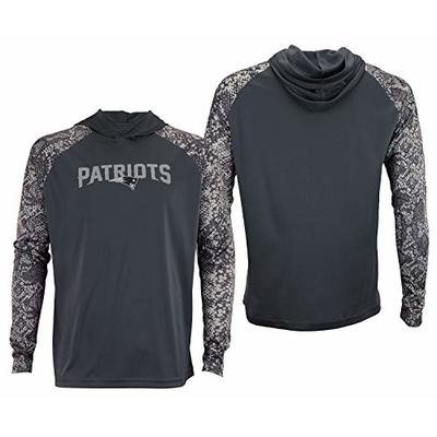 Zubaz NFL A- XL New England Patriots Gray Post Light Weight Hoodie