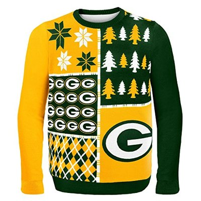 NFL Green Bay Packers BUSY BLOCK Ugly Sweater, XX-Large