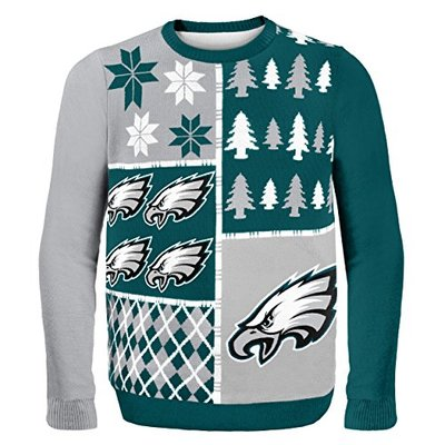 NFL Philadelphia Eagles BUSY BLOCK Ugly Sweater, X-Large