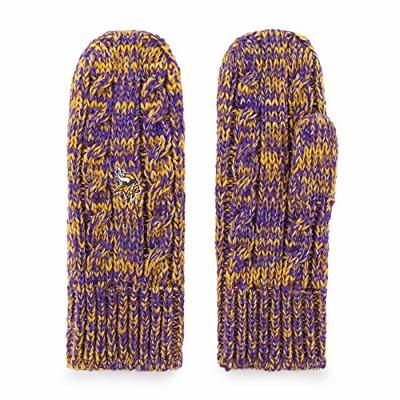 OTS NFL Minnesota Vikings Women's Brilyn Mittens, Team Color, Women's