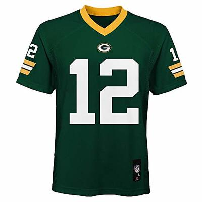 NEW Green Bay Packers Aaron Rodgers Green Boys Youth NFL Jersey Size LARGE 14-16 Lg L