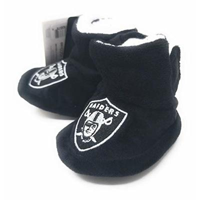 NFL Infant Baby High Boot Slipper Bootie (Oakland Raiders, S (0-3M))