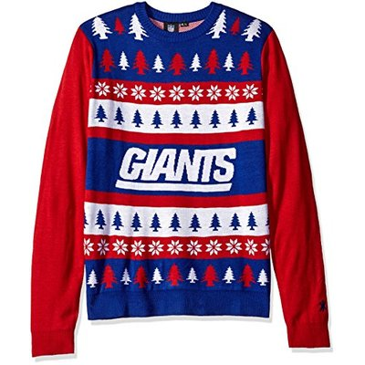 NFL New York Giants WORDMARK Ugly Sweater, Large