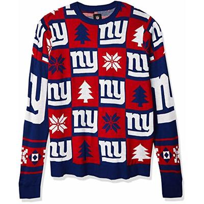 NFL NEW YORK GIANTS PATCHES Ugly Sweater, Large