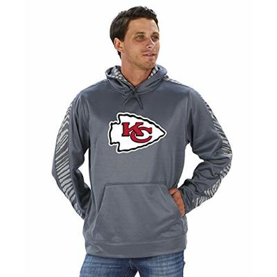 NFL Kansas City Chiefs Men's Pullover Hoodie, Gray, X-Large