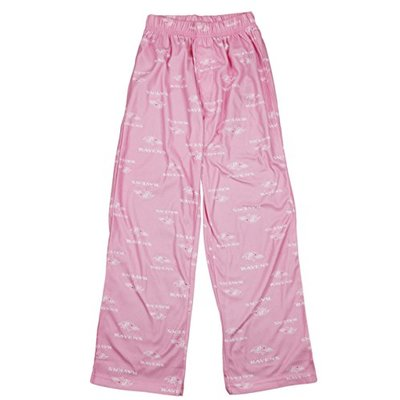 Baltimore Ravens NFL Girls Youth Pink Flannel Pajama Pants