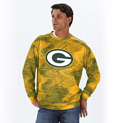 NFL Green Bay Packers Men's Crew Neck Sweatshirt, Green/Gold, XX-Large