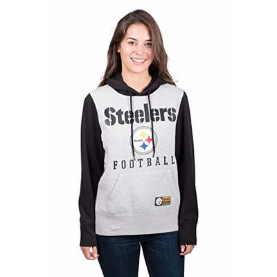 Ultra Game NFL Pittsburgh Steelers Womenss Fleece Hoodie Pullover Sweatshirt, Team Color, Large