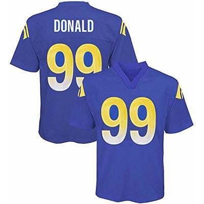 Aaron Donald Los Angeles Rams NFL Youth 8-20 Navy Home Mid-Tier Jersey (Youth Small 8)