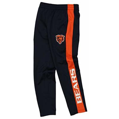 Outerstuff NFL Youth Boys (8-20) Side Stripe Slim Fit Performance Pant, Chicago Bears Medium (10-12)