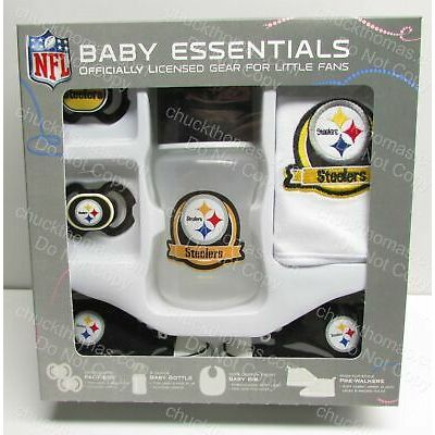 Pittsburgh STEELERS Baby 5 Piece NEW Gift Set Boxed – Ready to Give as a Gift