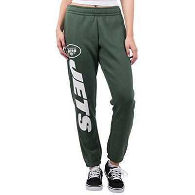 Ultra Game NFL New York Jets Womens Relaxed Fit Jogger, Team Color, Small