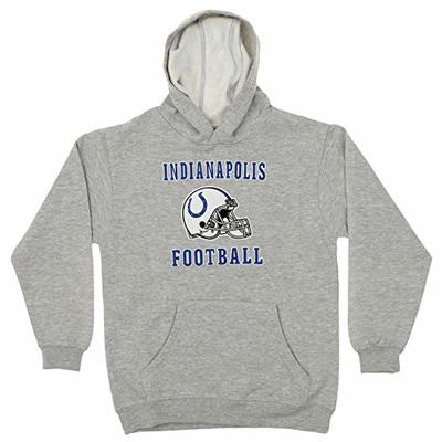 Outerstuff NFL Youth Boys Indianapolis Colts Team Logo Hoodie, Grey, Medium