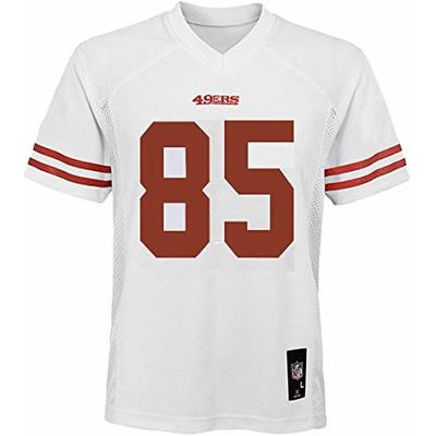 George Kittle San Francisco 49ers NFL Boys Youth 8-20 White Road Mid-Tier Jersey (Youth Large 14-16)