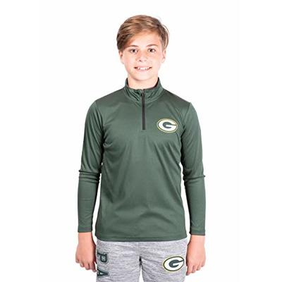 NFL Ultra Game Green Bay Packers Quarter-Zip Active Pullover Shirt, X-Large, Team Color