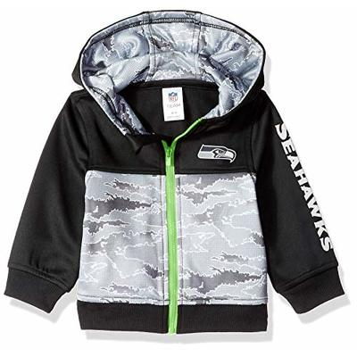 NFL Seattle Seahawks Unisex-Baby Hooded Jacket, Black, 12 Months